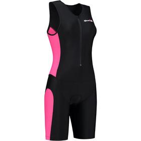 Dare2Tri Traje Triatlón Cremallera Frontal Mujer, black/pink